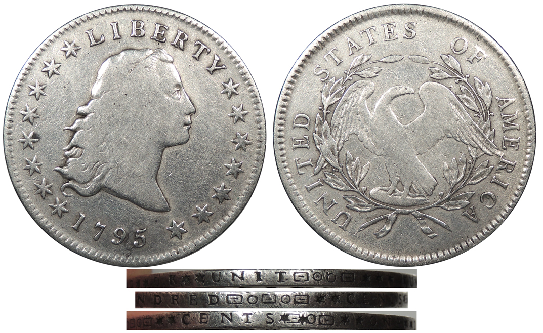 Counterfeit 1795 Flowing Hair Dollar
