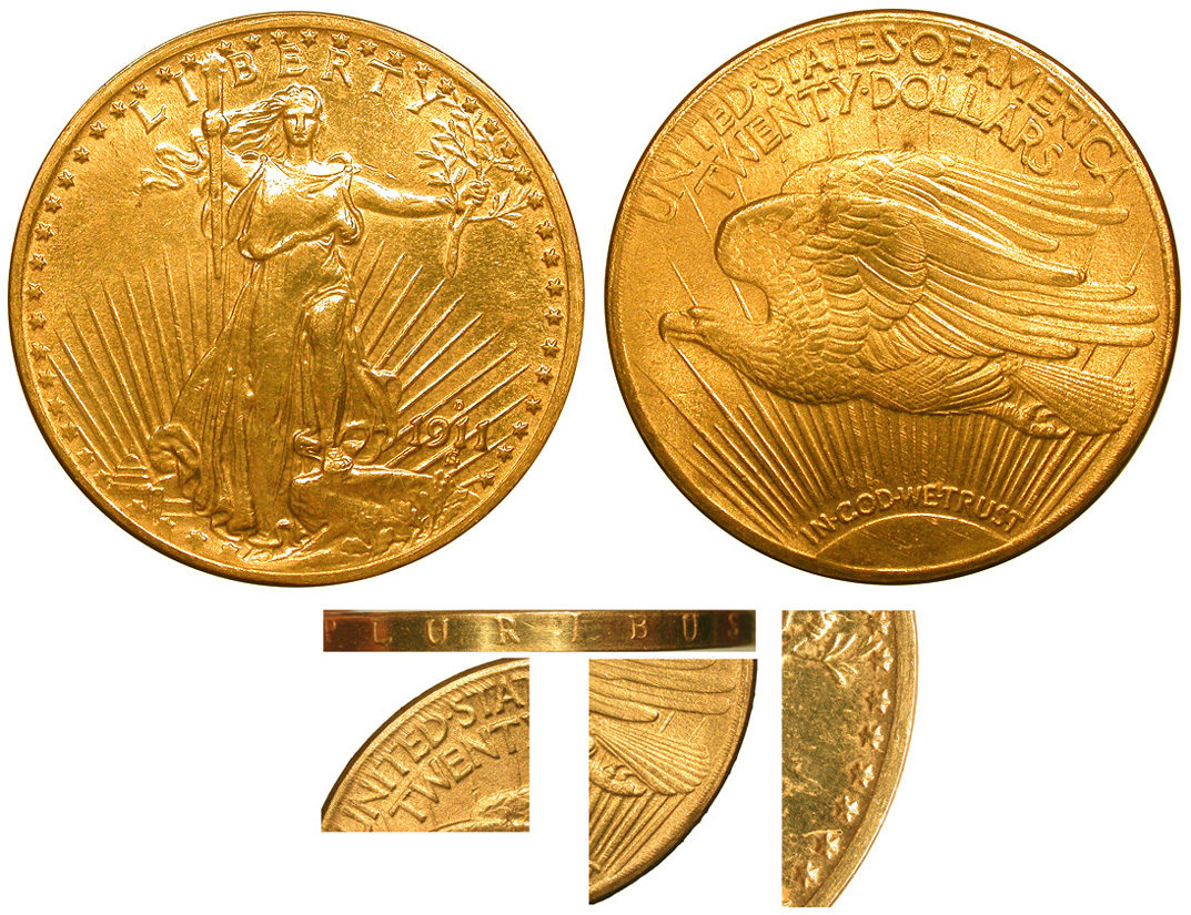 Counterfeit 1911-D Saint Gaudens Twenty Dollar Gold Piece