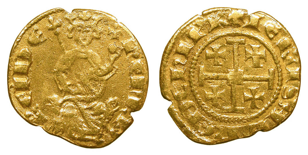 Counterfeit Cyprus Henry II Gold Coin #1