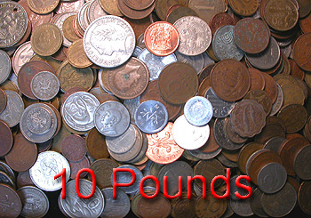 Open High resolution image of 10 Pounds of World Coins -- #BU1056.10