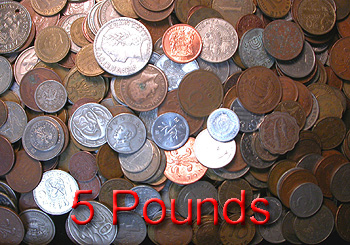 Open High resolution image of 5 Pounds of World Coins -- #BU1056.5
