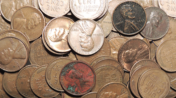 Open High resolution image of Lot of 500 Unsearched Wheat Cents -- #BU55215