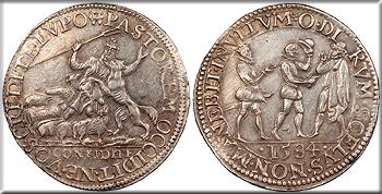 Featured Exonumia: SPANISH NETHERLANDS   Delft 1584 Assassination of William of Orange 30mm Jeton