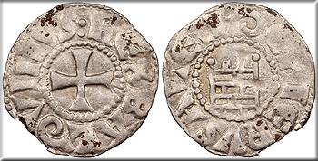 Featured Medieval Coin: CRUSADERS Latin Kingdom of Jerusalem Baldwin (Badouin) III 1143-1163 Denier